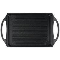 Tablecraft CWDC1070 CaterWare 17 13/16 inch x 10 3/4 inch Rectangular Die-Cast Induction Ready Grill Pan