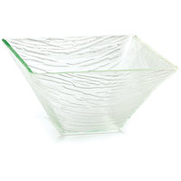 Tablecraft AB10 Cristal Collection 10 inch Clear Square Acrylic Bowl