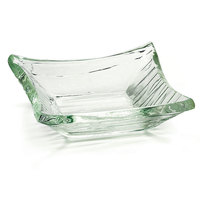 Tablecraft AB41 Cristal Collection 4 inch x 1 inch Clear Square Acrylic Sauce Bowl - 12/Pack