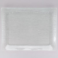 Tablecraft A1613 Cristal Collection Rectangular Acrylic Tray - 16 1/2 inch x 13 inch