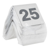 Tablecraft T125 1 to 25 Stainless Steel Table Tent Number