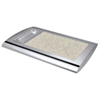 Hatco SRSS-1 Anodized Nickel Serv-Rite Portable Heated Bermuda Sand Stone Buffet Warmer - 350W