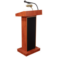 Oklahoma Sound 800X-CH Cherry Finish Orator Lectern with Sound