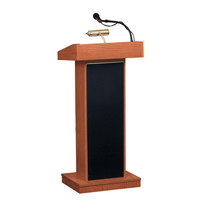 Oklahoma Sound 800X-CH Cherry Finish Orator Lectern with Concealed Casters and Built-In Speakers