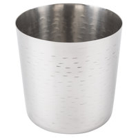 Tablecraft AC885R 3 3/8 inch Rice Pattern Stainless Steel French Fry Cup