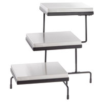 Tablecraft CaterWare CW40309B Three-Tiered Display Stand with Half Size Cooling Plates 22 1/2 inch x 21 1/4 inch x 20 3/4 inch