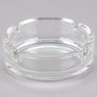 Arc Cardinal Arcoroc C1320 1 3/8 inch Round Stackable Glass Ashtray - 24/Case