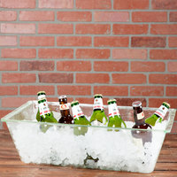 Tablecraft AT2012 Cristal Collection 20 inch x 12 inch x 6 inch Rectangular Acrylic Beverage Tub