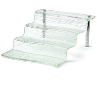 Tablecraft AW4 Cristal Collection 4 Step Acrylic Waterfall Riser - 15 1/4 inch x 12 inch x 6 1/4 inch