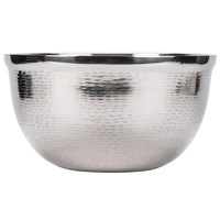 Tablecraft RB13 Remington 8 Qt. Round Stainless Steel Double Wall Bowl - 12 3/4 inch x 7 1/2 inch