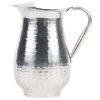 Tablecraft RP68 Remington 64 oz. Stainless Steel Beverage Pitcher with Ice Guard