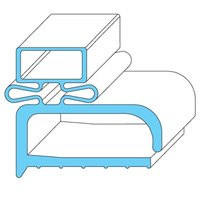 All Points 74-1006 Rubber Magnetic Drawer Gasket - 24 3/8 inch x 7 5/8 inch