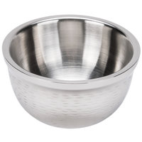 Tablecraft RB63 Remington 32 oz. Round Double Wall Stainless Steel Bowl
