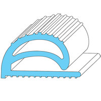 All Points 74-1100 Compression Door Gasket Strip - 100' x 1 inch x 1/2 inch