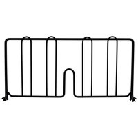 Metro DD18-DBM 18 inch Black Matte Wire Shelf Divider