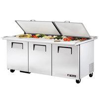 True TSSU-72-30M-B-DS-ST-ADA 72 inch 3 Door Mega Top ADA Height Refrigerated Sandwich Prep Table