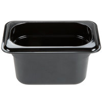 Carlisle 3088703 StorPlus 1/9 Size Black High Heat Food Pan - 4 inch Deep