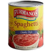 Furmano's #10 Can Premium Chunky Spaghetti Sauce   - 6/Case