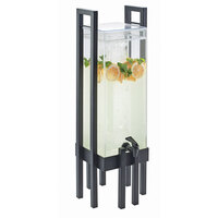 Cal Mil 3302-3INF-13 One by One 3 Gallon Acrylic Beverage Dispenser with Black Frame and Infusion Chamber - 9 inch x 9 inch x 28 1/2 inch