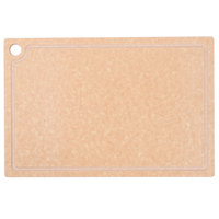 Cal-Mil 3337-1218-14 18 inch x 12 inch x 1/2 inch Natural Resin Grooved Cutting Board