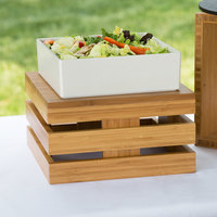 Cal-Mil 3332-7-60 Bamboo Square Crate Riser - 12 inch x 12 inch x 7 inch