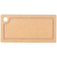 Cal-Mil 3337-612-14 12 inch x 6 inch x 1/2 inch Natural Resin Grooved Cutting Board