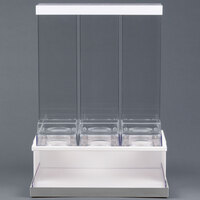 Cal-Mil 3019-55 Luxe 3 Bin Stainless Steel Cereal Dispenser