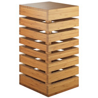 Cal-Mil 3331-60 Bamboo Square Crate Riser - 9 inch x 9 inch x 18 inch