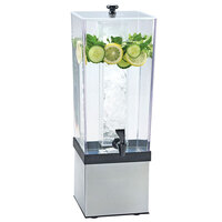 Cal Mil 3324-3INF-55 Econo Beverage Dispenser with Stainless Steel Base and Infusion Chamber - 7 1/2 inch x 9 1/2 inch x 23 1/2 inch