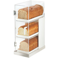 Cal-Mil 3021-55 Luxe Three Tier Stainless Steel Bread Case - 7 inch x 14 inch x 20 1/4 inch