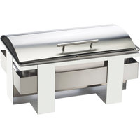 Cal-Mil 3017-55 Luxe Full-Size Stainless Steel Roll Top Chafer