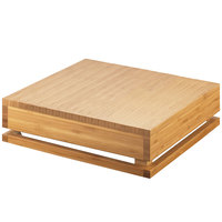 Cal-Mil 3332-4-60 Bamboo Square Crate Riser - 12 inch x 12 inch x 4 inch