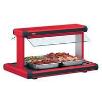 Hatco GR2BW-54 54 inch Glo-Ray Warm Red Designer Buffet Warmer with Black Insets and Infinite Controls - 120V, 2290W