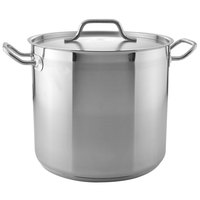 16 Qt. Heavy-Duty Stainless Steel Stock Pot with Cover
