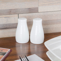Tablecraft 160 Porcelain 1.5 oz. Salt and Pepper Shaker Set   - 6/Box