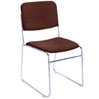 National Public Seating 8668 Diamond Burgundy Stackable Signature Padded Chair with Chrome Frame