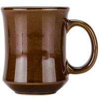 Tuxton BAM-0806 DuraTux Caramel 9 oz. China Princess Mug - 24/Case