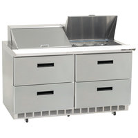 Delfield D4448N-12 48 inch 4 Drawer Refrigerated Sandwich Prep Table