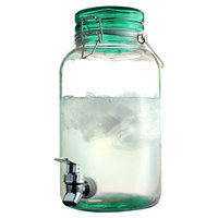 1 Gallon Style Setter Green Round Mason Glass Beverage Dispenser