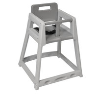 Koala Kare KB850-01-KD Gray Ready to Assemble Stackable Plastic High Chair