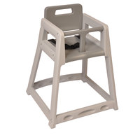 Koala Kare KB850-01-KD Gray Unassembled Stackable Plastic High Chair