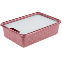 HS Inc. HS1050C Prep n Serve 17 1/2 inch x 12 1/2 inch Raspberry Deep Tote and Cutting Board Set