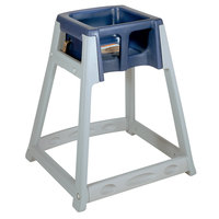 Koala Kare KB877-04 KidSitter Grey Assembled Convertible Plastic High Chair with Blue Seat