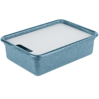 HS Inc. HS1050C Prep n Serve 10 1/4 inch x 15 3/8 inch Blueberry Deep Tote and Cutting Board Set