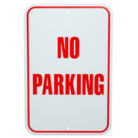 No Parking Aluminum Composite Sign - 12 inch x 18 inch P-79