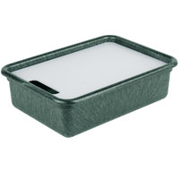HS Inc. HS1050C Prep n Serve 17 1/2 inch x 12 1/2 inch Jalapeno Deep Tote and Cutting Board Set