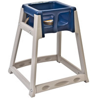 Koala Kare KB888-04 KidSitter Beige Assembled Convertible Plastic High Chair with Blue Seat
