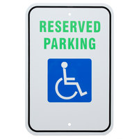 Handicap Reserved Parking Aluminum Composite Sign - 12 inch x 18 inch P-47