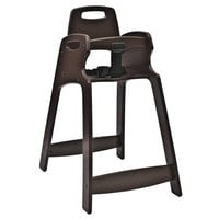 Koala Kare KB833-09 Dark Brown Assembled Recycled Plastic High Chair