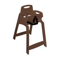 Koala Kare KB833-09 Dark Brown Assembled Recycled Plastic High Chair